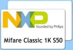 Thẻ Mifare 1K S50, NXP Chip