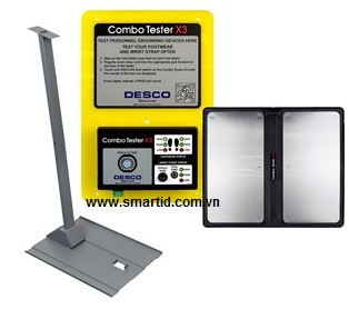 Bộ đo tĩnh điện Desco Combo Tester X3 With Stand